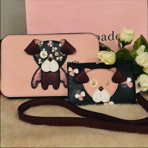 😻 Kate Spade dog crossbody bag and wallet set